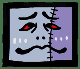 ZOMBIE Square Face sticker #455463