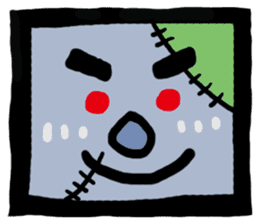 ZOMBIE Square Face sticker #455464
