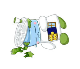 Salad spinner sticker #455984