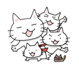 "Cat family ""Ninoneko"" sticker #456817"