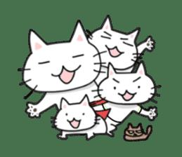 "Cat family ""Ninoneko"" sticker #456817"