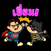 สติ๊กเกอร์ไลน์ DC Super Heroes vs. Eagle Talon