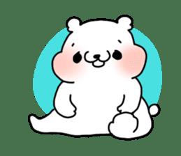A polar bear and a panda sticker #457896