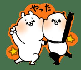 A polar bear and a panda sticker #457915