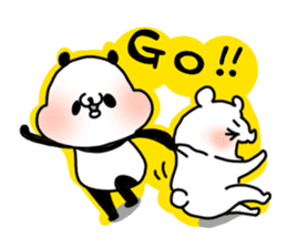 A polar bear and a panda sticker #457919