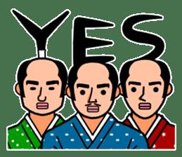 The Samurai Hairstyle sticker #458308