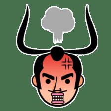 The Samurai Hairstyle sticker #458312