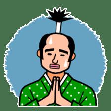 The Samurai Hairstyle sticker #458320