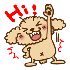 Putaro the Poodle sticker #458335
