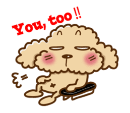 Putaro the Poodle sticker #458342