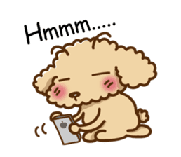 Putaro the Poodle sticker #458367