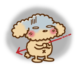 Putaro the Poodle sticker #458369