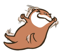 Kotsumetti of Small-clawed otter 02 sticker #458658