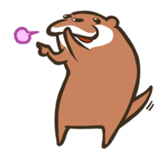 Kotsumetti of Small-clawed otter 02 sticker #458661