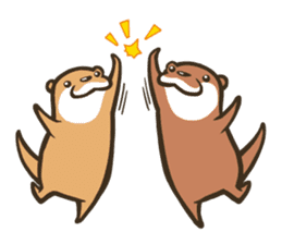Kotsumetti of Small-clawed otter 02 sticker #458662