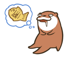 Kotsumetti of Small-clawed otter 02 sticker #458668