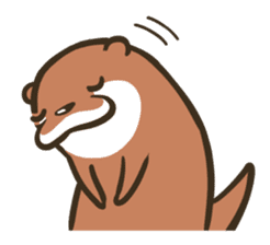 Kotsumetti of Small-clawed otter 02 sticker #458687