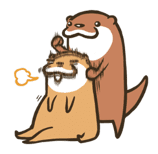 Kotsumetti of Small-clawed otter 02 sticker #458690