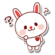 The stuffed animal of a rabbit sticker #459335