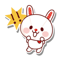 The stuffed animal of a rabbit sticker #459336