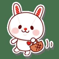 The stuffed animal of a rabbit sticker #459342