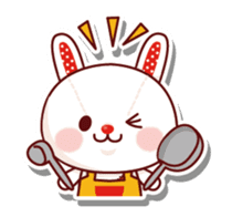 The stuffed animal of a rabbit sticker #459343