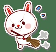 The stuffed animal of a rabbit sticker #459344
