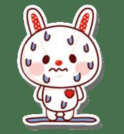 The stuffed animal of a rabbit sticker #459346