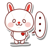 The stuffed animal of a rabbit sticker #459347