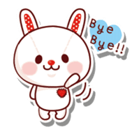The stuffed animal of a rabbit sticker #459352