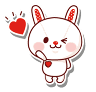 The stuffed animal of a rabbit sticker #459355