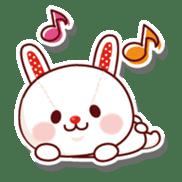 The stuffed animal of a rabbit sticker #459358