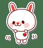 The stuffed animal of a rabbit sticker #459359
