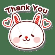The stuffed animal of a rabbit sticker #459364