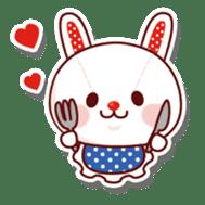 The stuffed animal of a rabbit sticker #459365