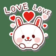 The stuffed animal of a rabbit sticker #459367