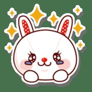 The stuffed animal of a rabbit sticker #459370