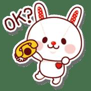 The stuffed animal of a rabbit sticker #459372