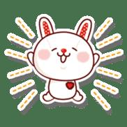 The stuffed animal of a rabbit sticker #459373