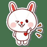 The stuffed animal of a rabbit sticker #459374