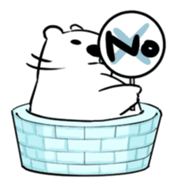 The plump polar bear. sticker #460316