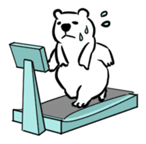 The plump polar bear. sticker #460327