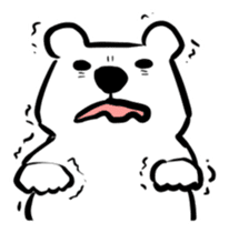 The plump polar bear. sticker #460331