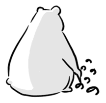The plump polar bear. sticker #460332