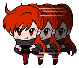 Female ninja Anne sticker #461258