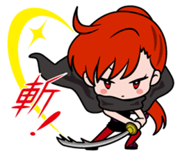Female ninja Anne sticker #461262