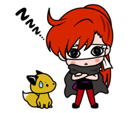 Female ninja Anne sticker #461266