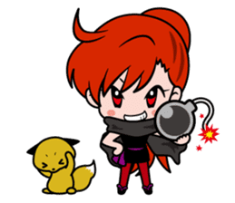 Female ninja Anne sticker #461269