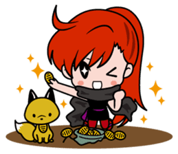 Female ninja Anne sticker #461290