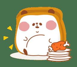 The panda of bread sticker #461622